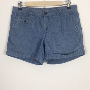 Banana Republic Chambray Cuffed Shorts